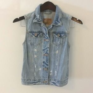 Blue Jean Hollister Vest Top XS extra Small